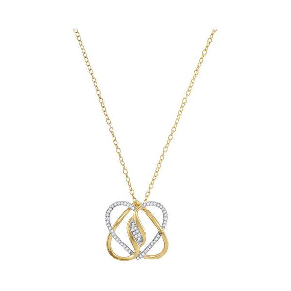 Diamond Fashion Heart Pendant 1/6 Cttw 10kt Yellow Gold