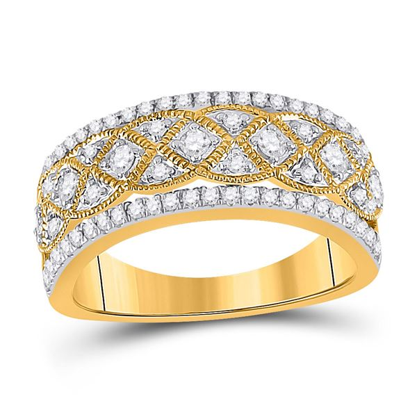 Diamond Band Ring 1/2 Cttw 14kt Yellow Gold