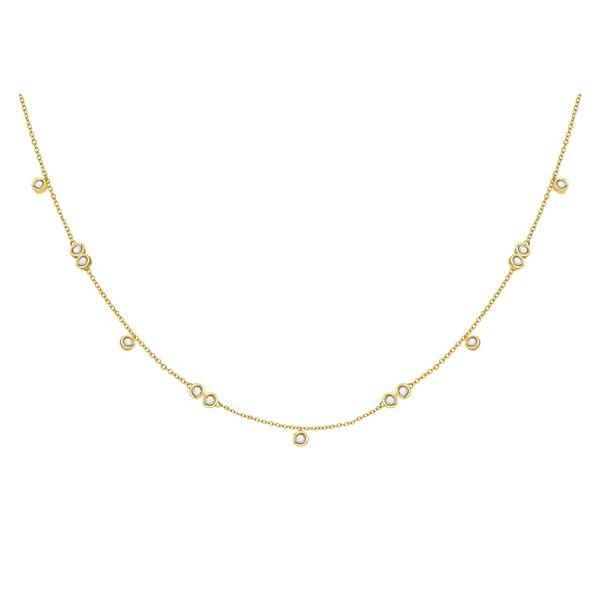 Diamond Simplistic Fashion Necklace 1/3 Cttw 10kt Yellow Gold