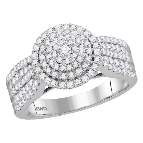 Diamond Halo Bridal Wedding Engagement Ring 1 Cttw 10kt White Gold