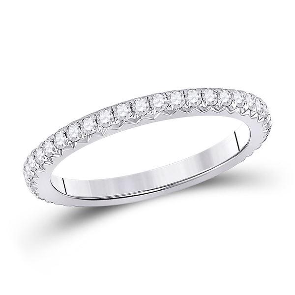 Diamond Eternity Wedding Band 5/8 Cttw 14kt White Gold