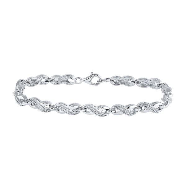 Diamond Infinity Bracelet .01 Cttw Sterling Silver