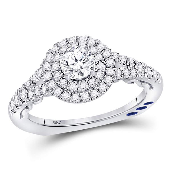 Diamond Solitaire Bridal Wedding Engagement Ring 1 Cttw 14kt White Gold