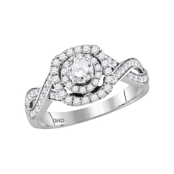 Diamond Solitaire Bridal Wedding Engagement Ring 7/8 Cttw 14kt White Gold