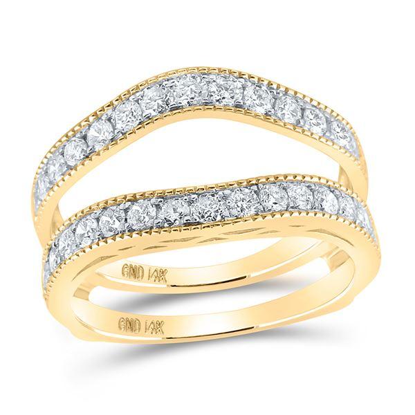Diamond Wedding Wrap Ring Guard Enhancer 1 Cttw 14kt Yellow Gold