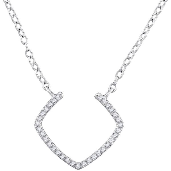 Diamond Fashion Necklace 1/10 Cttw 10kt White Gold