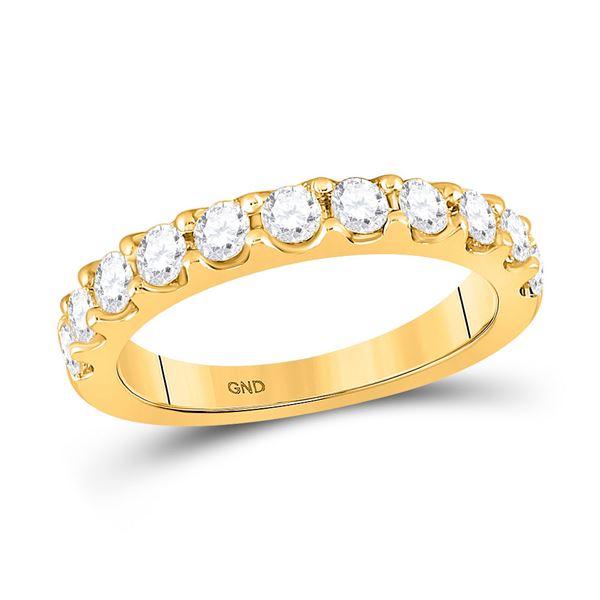 Diamond Wedding Single Row Band 7/8 Cttw 14kt Yellow Gold