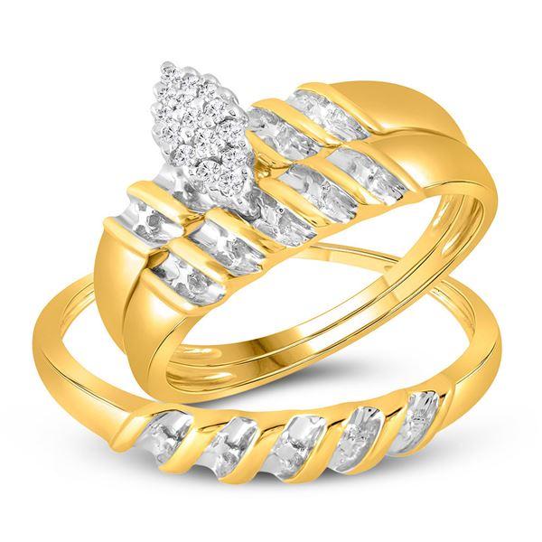Ring Band Set 10k Yellow Gold