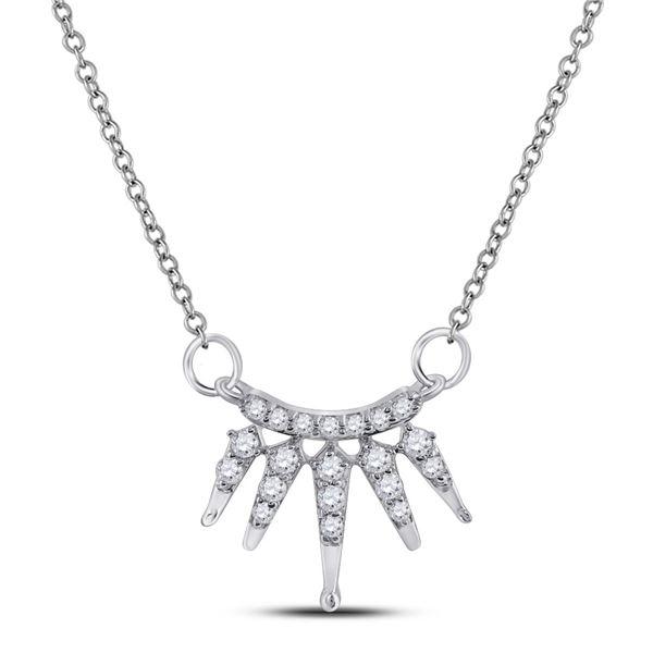 Diamond Fashion Necklace 1/6 Cttw 10kt White Gold