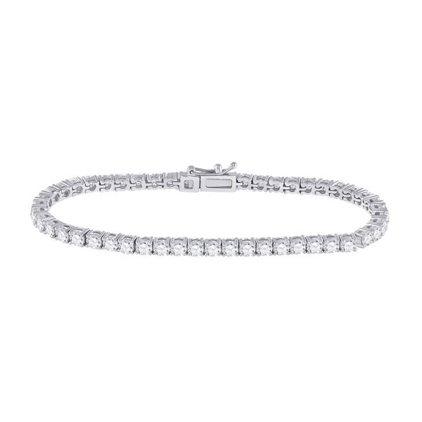 Diamond Tennis Bracelet 6 Cttw 14kt White Gold