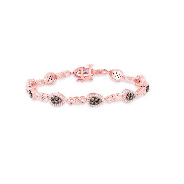 Brown Diamond Fashion Bracelet 2 Cttw 10kt Rose Gold