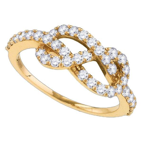 Diamond Infinity Woven Love Anniversary Ring 3/4 Cttw 10k Rose Gold