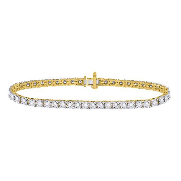 Diamond Classic Tennis Bracelet 2 Cttw 10kt Yellow Gold