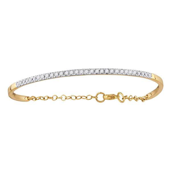 Diamond Promise Bangle Bracelet 1/2 Cttw 10kt Yellow Gold