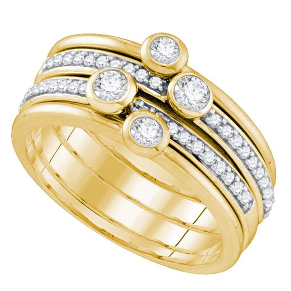 Diamond Stackable Band Ring 1/2 Cttw 10kt Yellow Gold