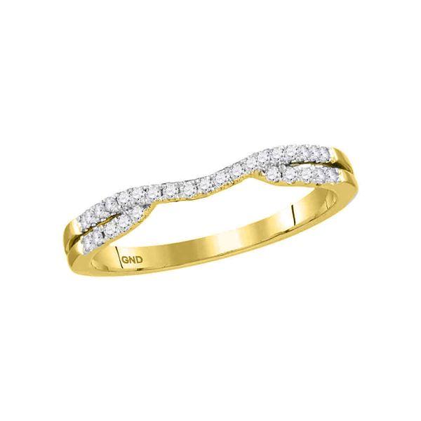 Diamond Contour Enhancer Wedding Band Ring 1/6 Cttw 14kt Yellow Gold