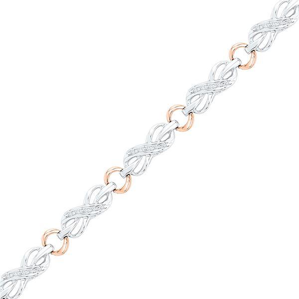Diamond Infinity Bracelet 1/4 Cttw 10kt Two-tone Gold