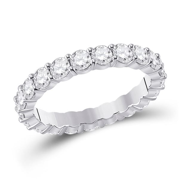 Diamond Classic Eternity Ring 2-1/3 Cttw 14kt White Gold