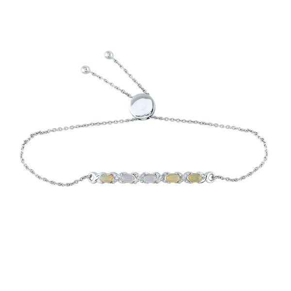 Diamond X-Link Bolo Bracelet 1/8 Cttw Sterling Silver