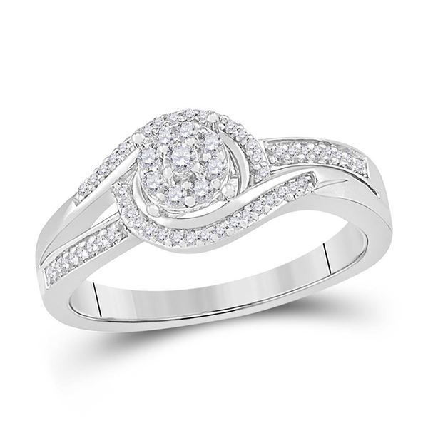 Diamond Solitaire Promise Ring 1/5 Cttw 10kt White Gold