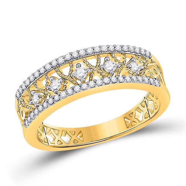 Diamond Band Ring 1/4 Cttw 10kt Yellow Gold