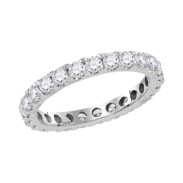 Diamond Eternity Wedding Anniversary Ring 1-1/2 Cttw 14kt White Gold