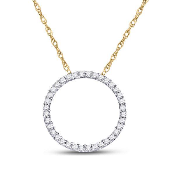 Diamond Circle Pendant 1/6 Cttw 10kt Yellow Gold