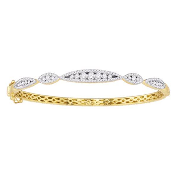 Diamond Bangle Bracelet 1 Cttw 10kt White Gold