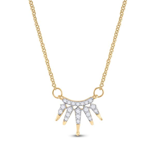 Diamond Fashion Necklace 1/6 Cttw 10kt Yellow Gold