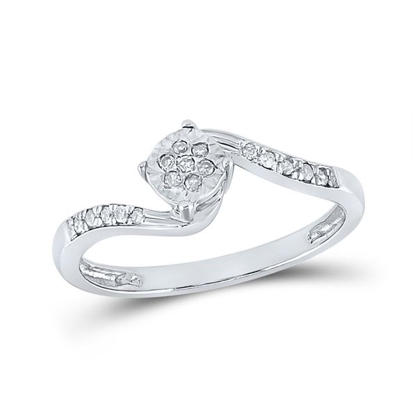 Diamond Fashion Ring 1/12 Cttw Sterling Silver