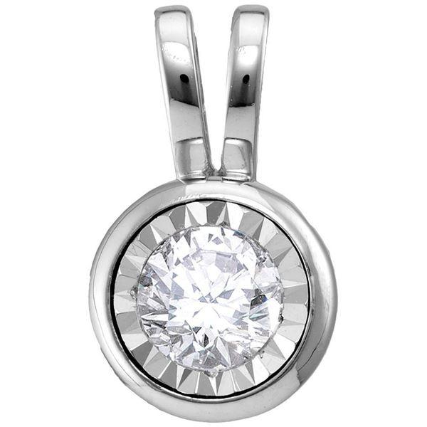 Diamond Solitaire Pendant 1/4 Cttw 10kt White Gold