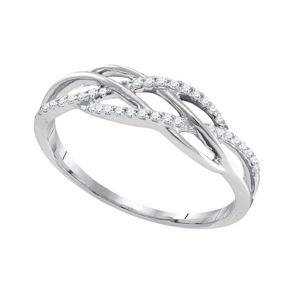 Diamond Band Ring 1/8 Cttw 10kt White Gold