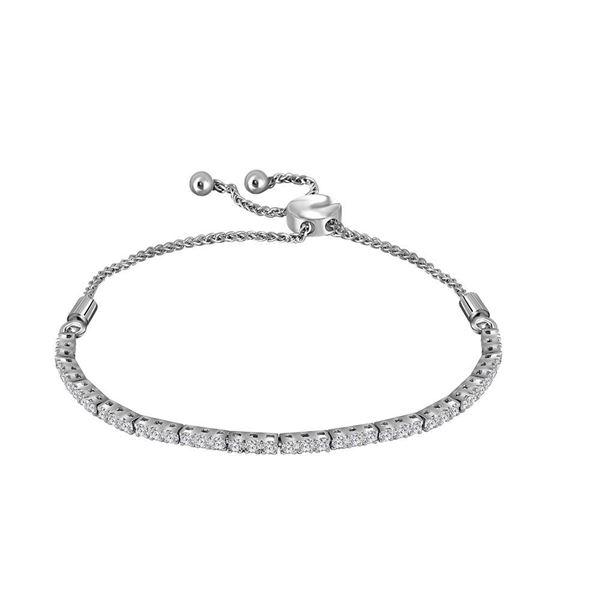Diamond Bolo Bracelet 1 Cttw 14kt White Gold
