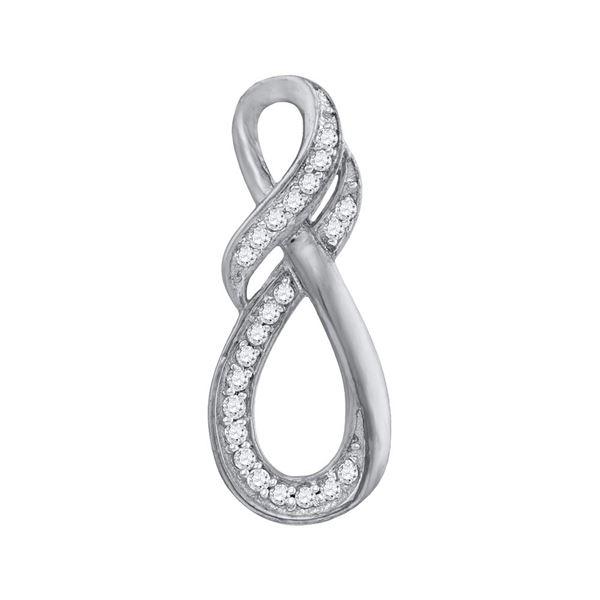 Diamond Twist Fashion Pendant 1/10 Cttw 10kt White Gold