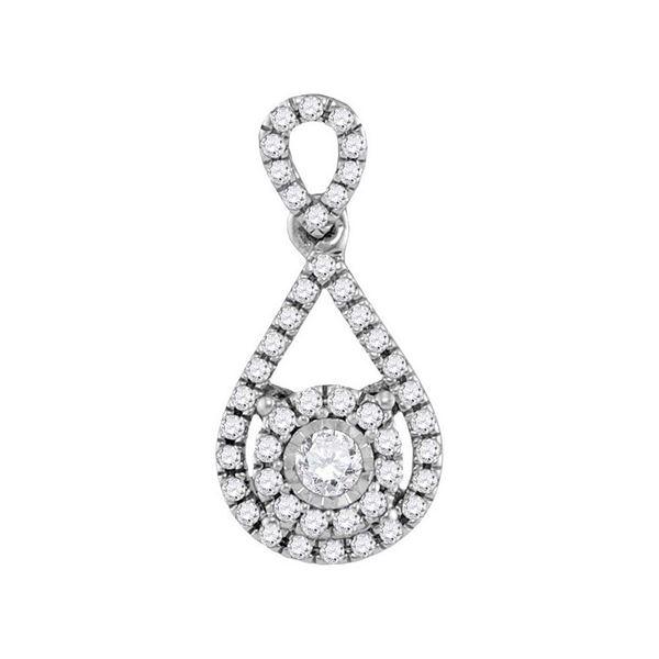 Diamond Teardrop Pendant 1/4 Cttw 10kt White Gold