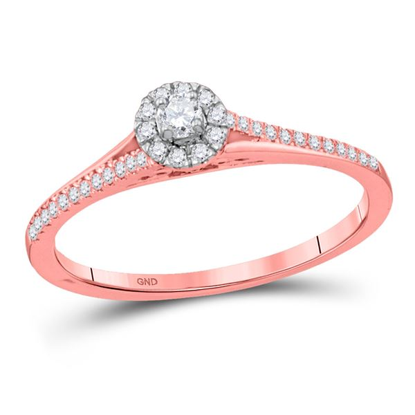 Diamond Solitaire Bridal Wedding Engagement Ring 1/5 Cttw 10kt Rose Gold