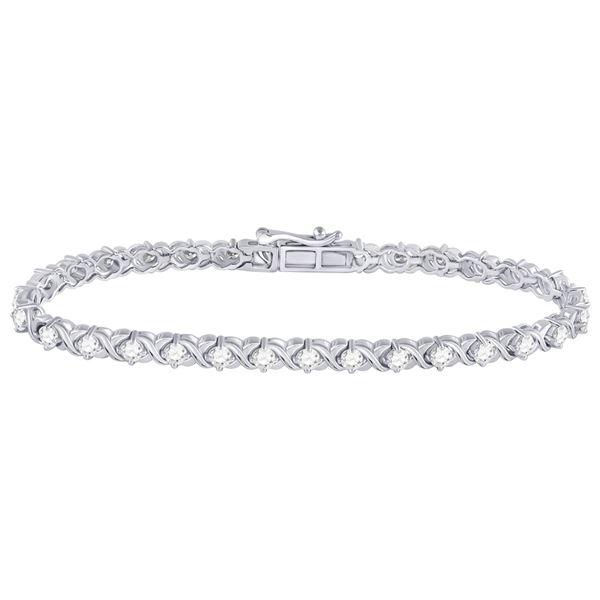 Diamond Tennis Bracelet 3 Cttw 14kt White Gold