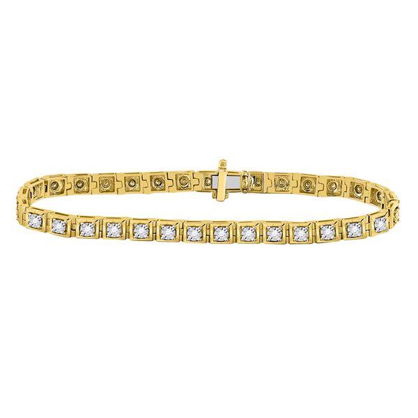 Diamond Fashion Tennis Bracelet 3/4 Cttw 10kt Yellow Gold