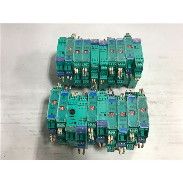 Lot of Pepperl + Fuchs Modules (see pics for part numbers)
