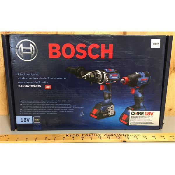 BOSCH 1/2 HAMMER DRILL & 1/4 INCH DRILL - NEW