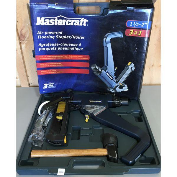 MASTERCAFT AIR-POWERED FLOORING STAPLER/ NAILER