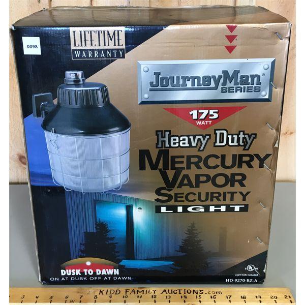 JOURNEY MAN MERCURY VAPOUR SECURITY LIGHT - NEW