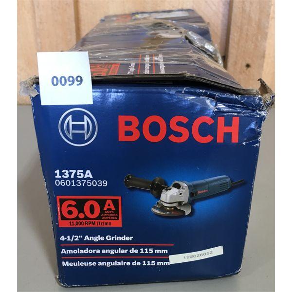 BOSCH 4 1/2 INCH GRINDER - NEW BUT BOX DAMAGED
