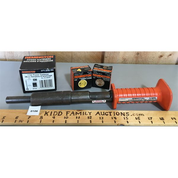 REMINGTON POWER ACTUATED TOOL W/ FASTENERS