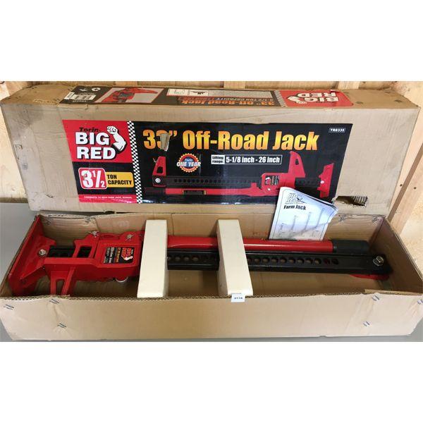 BIG REC 33 INCH OFF ROAD JACK - AS NEW