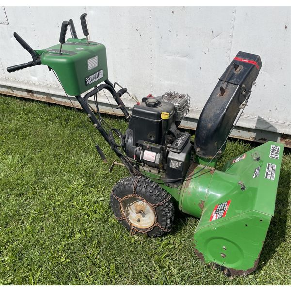 FRONTIER MODEL ST0927 GAS SNOW BLOWER - FUNCTIONS WELL