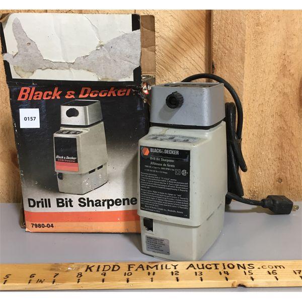 BLACK & DECKER DRILL BIT SHARPENER