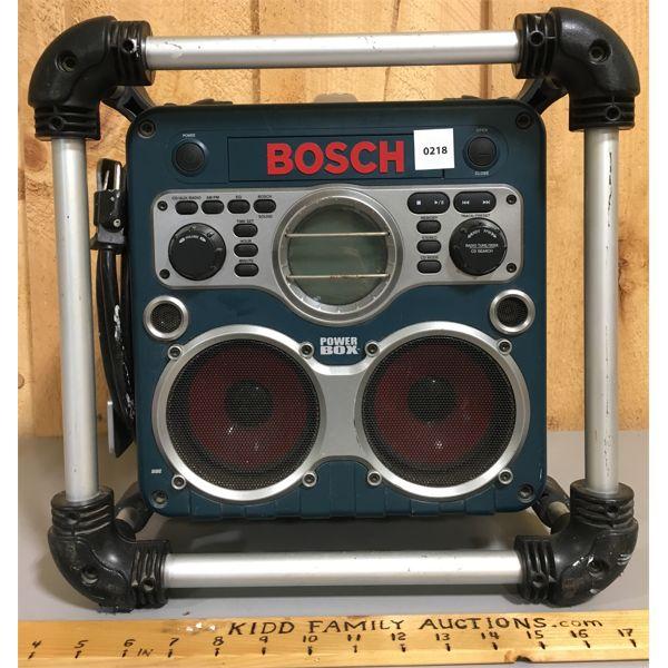 BOSCH POWER BOSS SHOP RADIO W/ OUTLETS