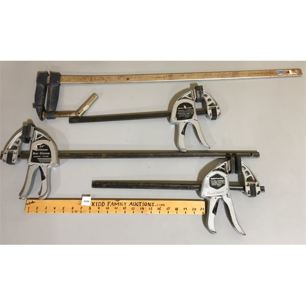 LOT OF 4 - BAR CLAMPS
