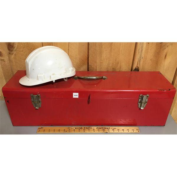 32 INCH METAL TOOL BOX W/ HARD HAT